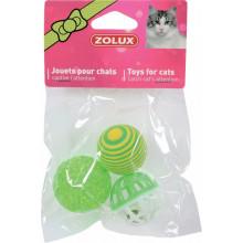 ZOLUX Игрушка для кота три разных шара 4 см