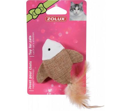 ZOLUX Игрушка для кота рыба с перьями