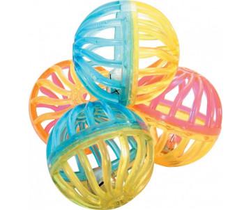 ZOLUX Игрушка для кота - набор 4 шарика с колокольчиками