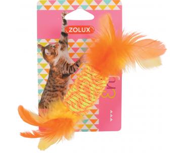 ZOLUX Игрушка для кошек эластичные конфеты с перьями