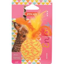 ZOLUX Игрушка для кошек эластичный шар с перьями