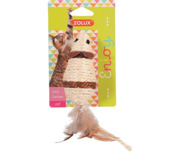 ZOLUX Игрушка для кошек мышь с перьями сизаль