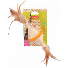 ZOLUX Игрушка для кошек с перьями сизаль